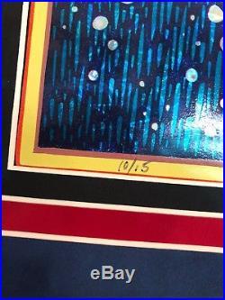 AJ masthay Soothsayer Kaboom Foil #10/15 Framed with Triple Matt