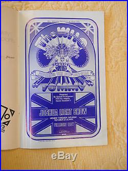 AOR-2.94 David Byrd signed poster & program BG, FD, Grateful Dead