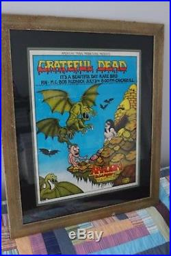 AOR 4.202 1970 Grateful Dead Concert Poster Aragon Ballroom Chicago