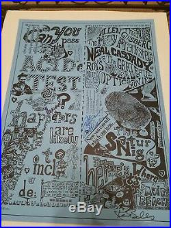 Acid Test Poster Signed by Ken Kesey & Merry Pranksters