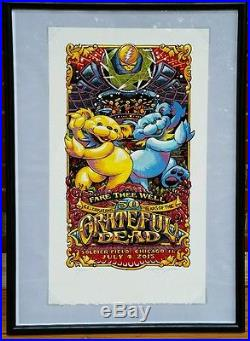 Aj Masthay Fare Thee Well Grateful Dead 50th 7/4 S/N Limited Edition Framed