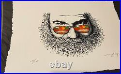 Aj Masthay Palm Sunday 9 Color Letterpress Poster Grateful Dead Jerry Garcia