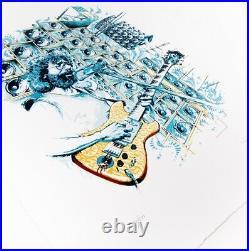 Aj Masthay Stella Blue Grateful Dead Jerry Garcia Print Poster S/n Confirmed Ord