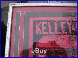 Alton Kelley-stanley Mouse Hand Signed-professionally Framed-matted And Cheap