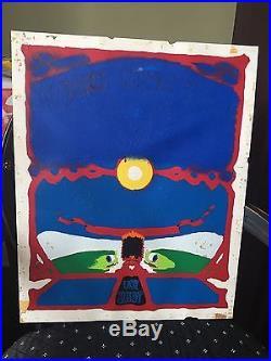 Amazing Original Reverse Painted Grateful Dead Aoxomoxoa Poster Prison Art