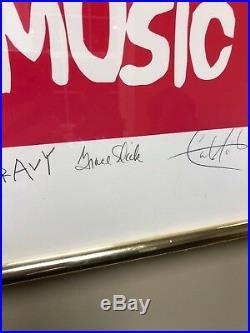 Arnold Skolnick Signed Woodstock Poster Reprint Autographed Santana, Gravy, more