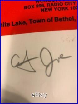Arnold Skolnick Signed Woodstock Poster Restrike Autographed Santana, Gravy, more