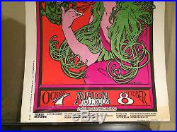 Avalon Ballroom 10/7-8/66 Psychedelic poster Original 1966