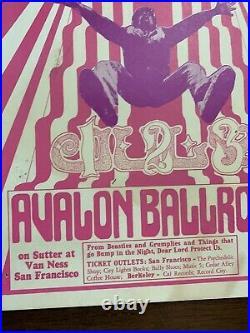 Avalon Ballroom FD 15 Grass Roots Wonderland Poster 1966 First Run Wes Wilson