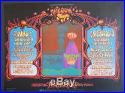 BG-133-OP-1 The Who poster FD, AOR, Grateful Dead