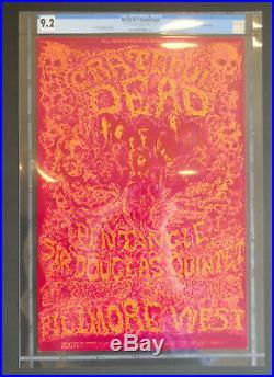 BG-162-OP-1 CGC 9.2 Lee Conklin signed poster FD, AOR, Grateful Dead