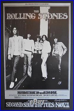 BG-202-OP-1 Tuten signed poster FD, AOR, Grateful Dead