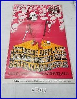 BG-222 1970 Concert Poster Benefit for the Grateful Dead with Jefferson Airplane+