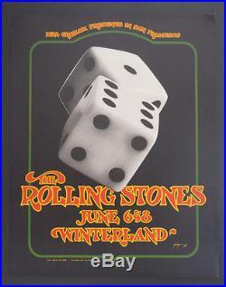 BG-289-OP-1 Rolling Stones poster FD, AOR, Grateful Dead