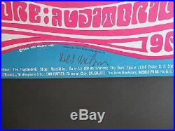 BG-43-OP-1 Wes Wilson signed poster AOR, FD, Grateful Dead