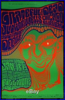 BG 45 Grateful Dead The Doors Junior Wells Wes Wilson 1967 Fillmore Poster