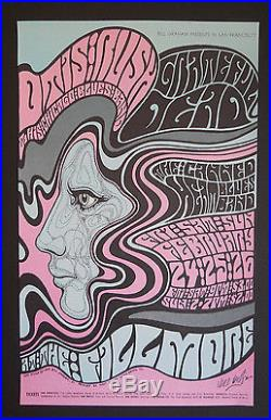 BG-51-OP-1 Wes Wilson signed Grateful Dead poster AOR, FD