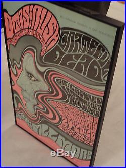 BG-51 framed Grateful Dead Canned Heat'67 signed Wes Wilson The Fillmore Mint