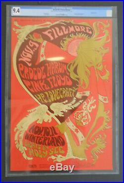 BG-92-OP-1 CGC 9.4 Pink Floyd poster FD, AOR, Grateful Dead