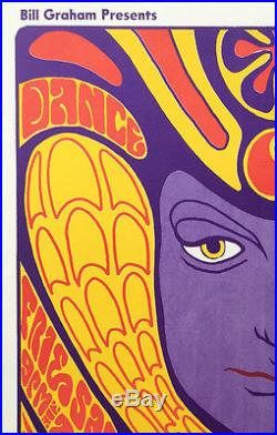 BG041 Grateful Dead Fillmore 1st Printing Concert Poster Signed by Wes Wilson