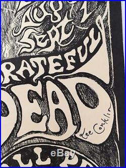 BG134 poster GRATEFUL DEAD santana SIGNED Lee Conklin 1st print FD aor