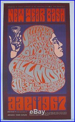 BG37-OP1 Jefferson Airplane Grateful Dead Concert Poster Bill Graham