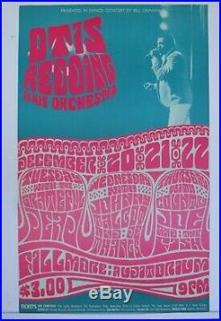 BG43-OP1 Otis Redding Grateful Dead Fillmore Concert Poster Bill Graham