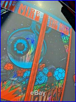 BILLY STRINGS LOUISVILLE KY 2020 RAINBOW SWIRL FOIL Poster AE Signed S/N #XX/30