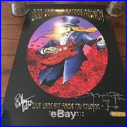BOB WEIR and RATDOG REUNION POSTER SIGNED BY BOB WEIR & ARTIST STANLEY MOUSE