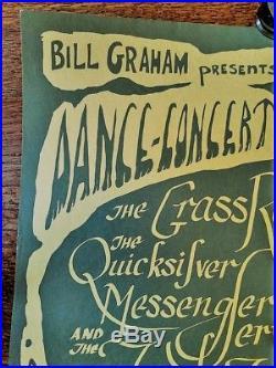 Bg000-1 Grass Roots/quicksilver, Fillmore Concert Poster, 1966 Bonnie Maclean