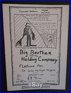 Big Brother & the Holding Company poster & handbill FD, AOR, Grateful Dead