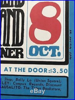 Bill Graham WINTERLAND 1966 Original WES WILSON BG-30 Playbill Poster FRAMED