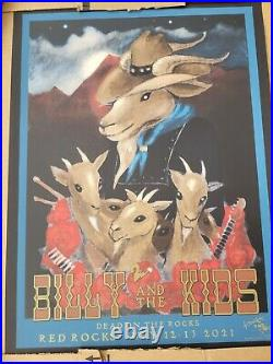 Billy And The Kids Poster Red Rocks Billy Strings Grateful Dead