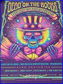 Billy And The Kids Poster Red Rocks Grateful Dead Billy Strings