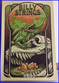 Billy Strings Austin Texas October 18 2019 Signed and Numbered Poster