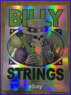 Billy Strings November 9, 2019 Washington DC FOIL signed & Numbered Poster