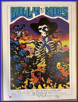 Billy and The Kids Poster Red Rocks 2021 Stanley Mouse Signed #/50 Billy Strings