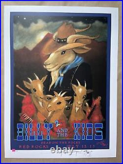 Billy and the Kids Poster Red Rocks 2021 Signed #/50 Stanley Mouse Billy Strings