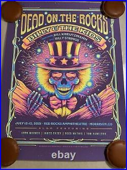 Billy and the Kids Red Rocks Dead On The Rocks Half Hazard Print Billy Strings