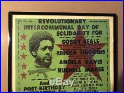 Black Panther & Grateful Dead Original Vintage Poster Seale Huggins Davis 1971