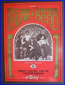 Bob Dylan / Grateful Dead Day on the Green #1 poster 1st print BG, FD, AOR