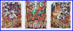 Bob Weir Phil Lesh Bobby & Phil Duo Tour Aj Masthay Print Triptych Set Ae #/50