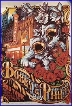Bob Weir Phil Lesh Duo Poster Chicago Theatre AJ Masthay 3/10/18 3/11/18