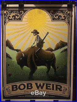 Bob Weir Ryman Poster 2016 Campfire Tour Blue Mountain What A Show WOW #/575