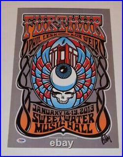 Bob Weir Signed Autograph FURTHER Poster The Grateful Dead & Company PSA/DNA COA