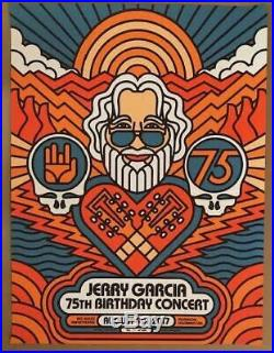 Bob Weir & The Campfire Band Jerry Garcia 75th Birthday Poster Red Rocks 2017