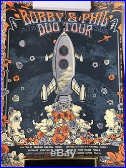 Bob Weir and Phil Lesh Duo Tour Poster Grateful Dead Justin Helton 4/150