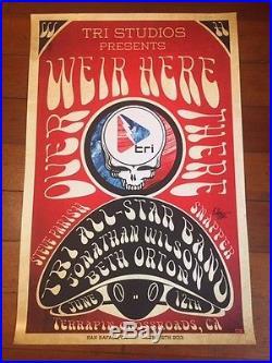 Bob Weir of grateful dead poster / terrapin crossroads SIGNED