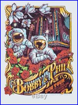 Bobby & Phil Radio City Music Hall Poster s/n by AJ Masthay / Lesh and Weir