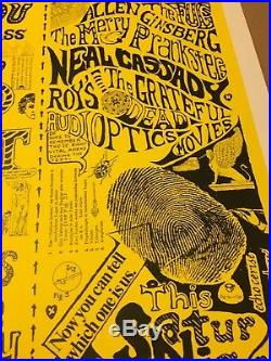 Can You Pass The Acid Test Poster signed / numbered by Ken Kesey